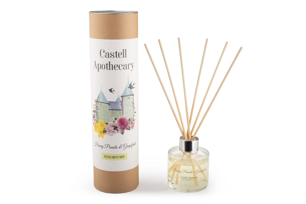 Castell Apothecary Honey Pomelo & Grapefruit Reed Diffuser