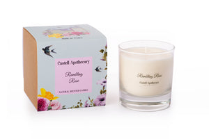 Castell Apothecary Rambling Rose Candle in a Glass