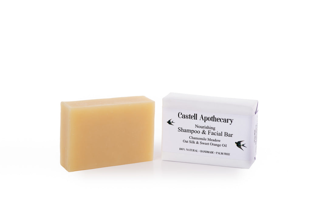 Castell Apothecary Chamomile Meadow with Oat Silk Hair & Facial Cleansing Bar