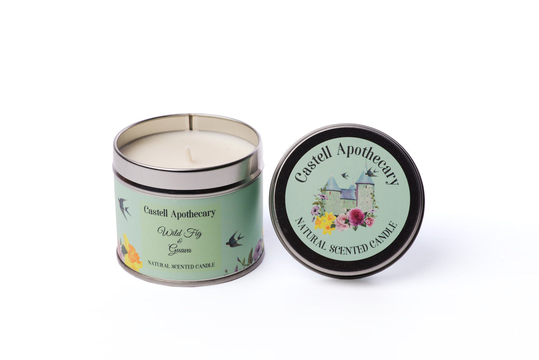 Castell Apothecary Wild Fig & Guava Candle in a Tin