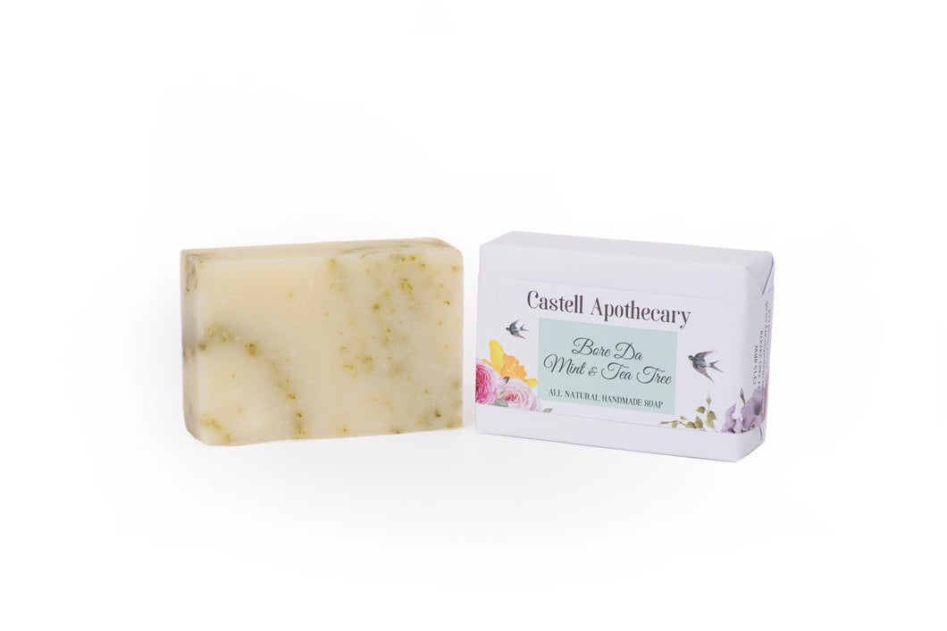 Castell Apothecary Bore Da Mint & Tea Tree Natural Handmade Soap