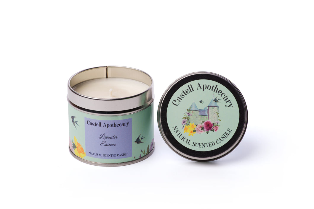 Castell Apothecary Lavender Essence Candle in a Tin