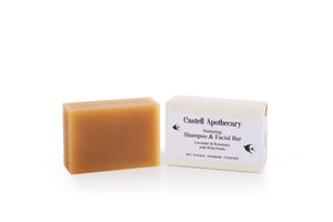 Castell Apothecary Lavender & Rosemary With Nettle Tea Hair & Facial Cleansing Bar
