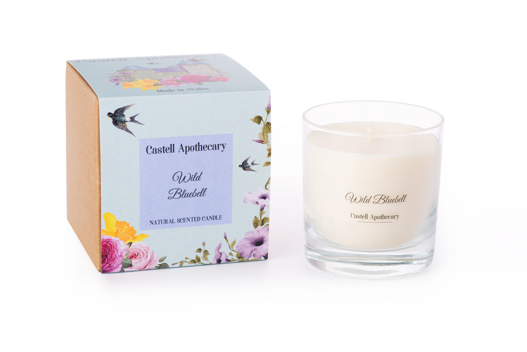 Castell Apothecary Wild Bluebell Candle in a Glass