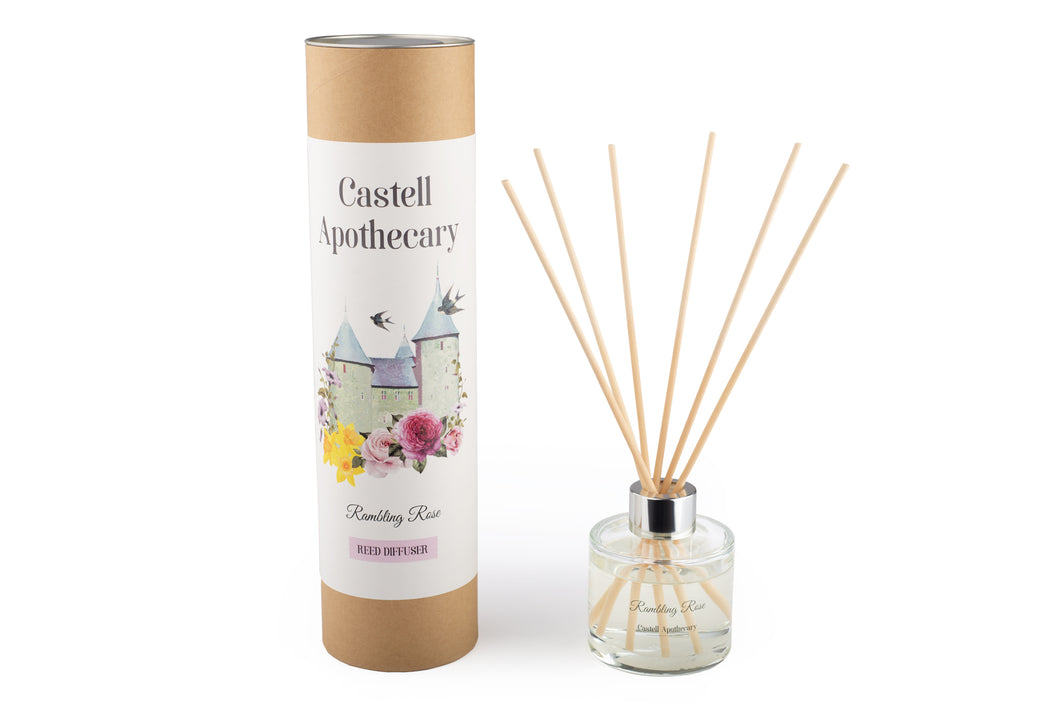 Castell Apothecary Rambling Rose Reed Diffuser