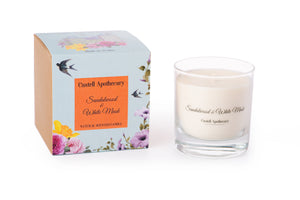 Castell Apothecary Sandalwood & White Musk Candle in a Glass