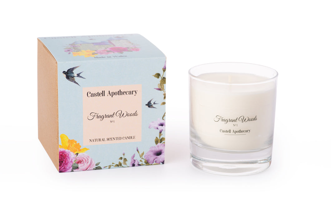 Castell Apothecary Fragrant Woods Candle in a Glass