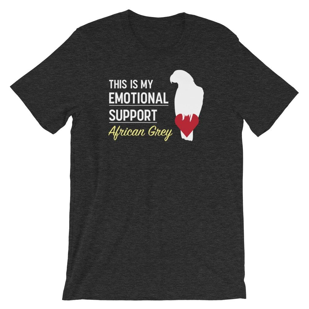 Birdwear Dark Grey Heather / S This is my Emotional Support African Grey Shirt