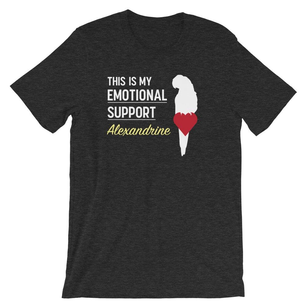 Birdwear Dark Grey Heather / S This is my Emotional Support Alexandrine Shirt