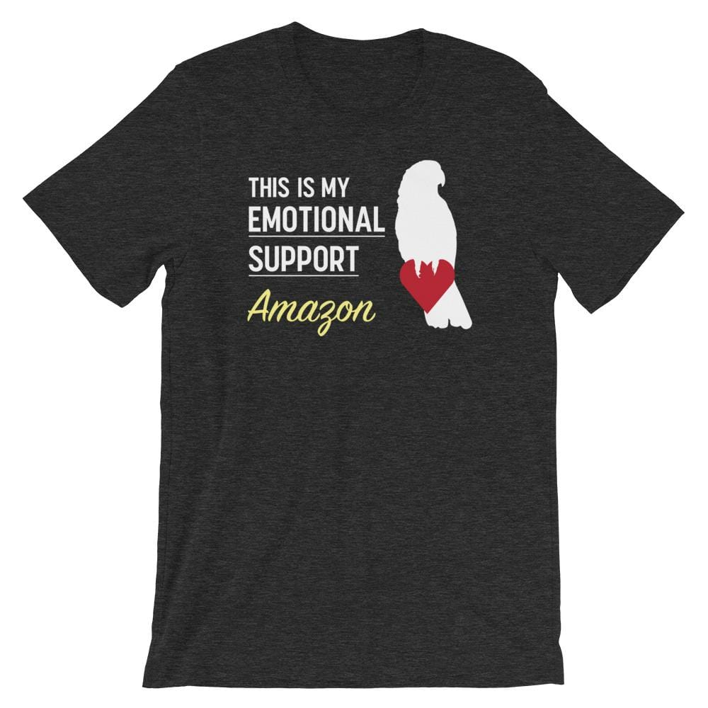 Birdwear Dark Grey Heather / S This is my Emotional Support Amazon Shirt
