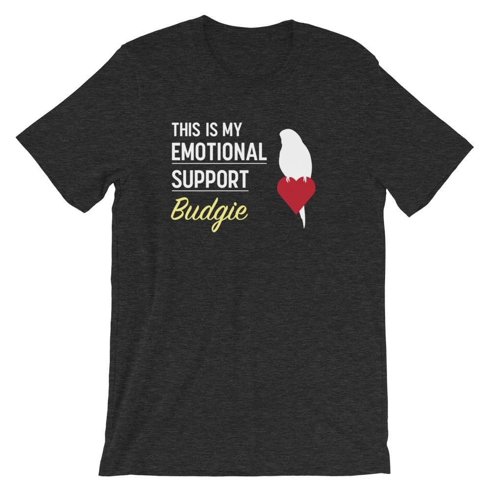 Birdwear Dark Grey Heather / S This is my Emotional Support Budgie Shirt
