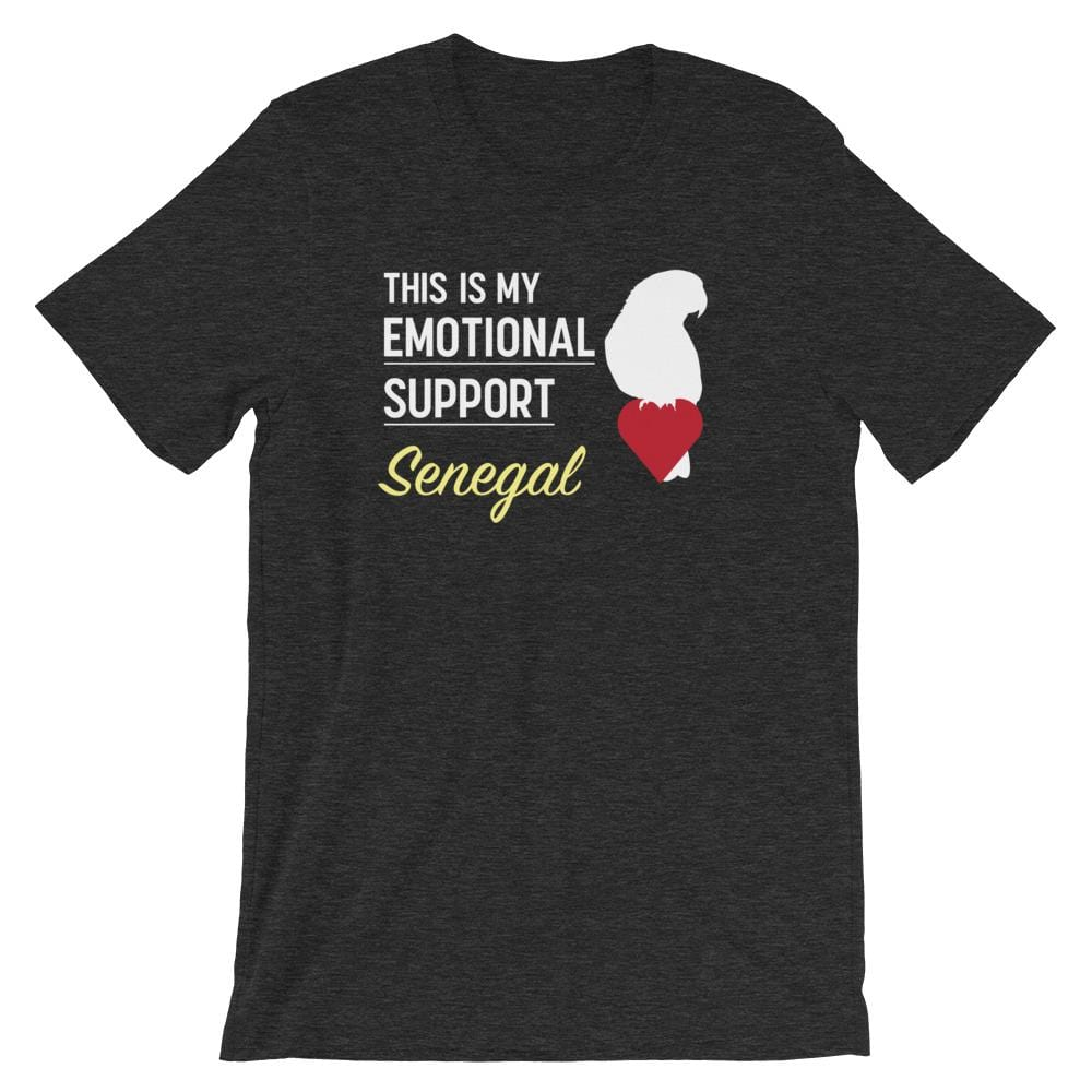 Birdwear Dark Grey Heather / S This is my Emotional Support Senegal Shirt