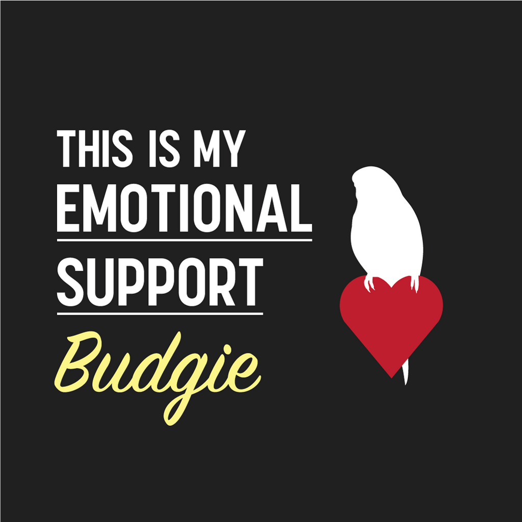 Birdwear This is my Emotional Support Budgie Shirt