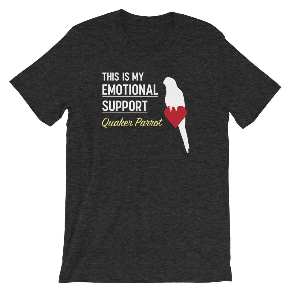 Birdwear XS This is my Emotional Support Quaker Parrot Shirt
