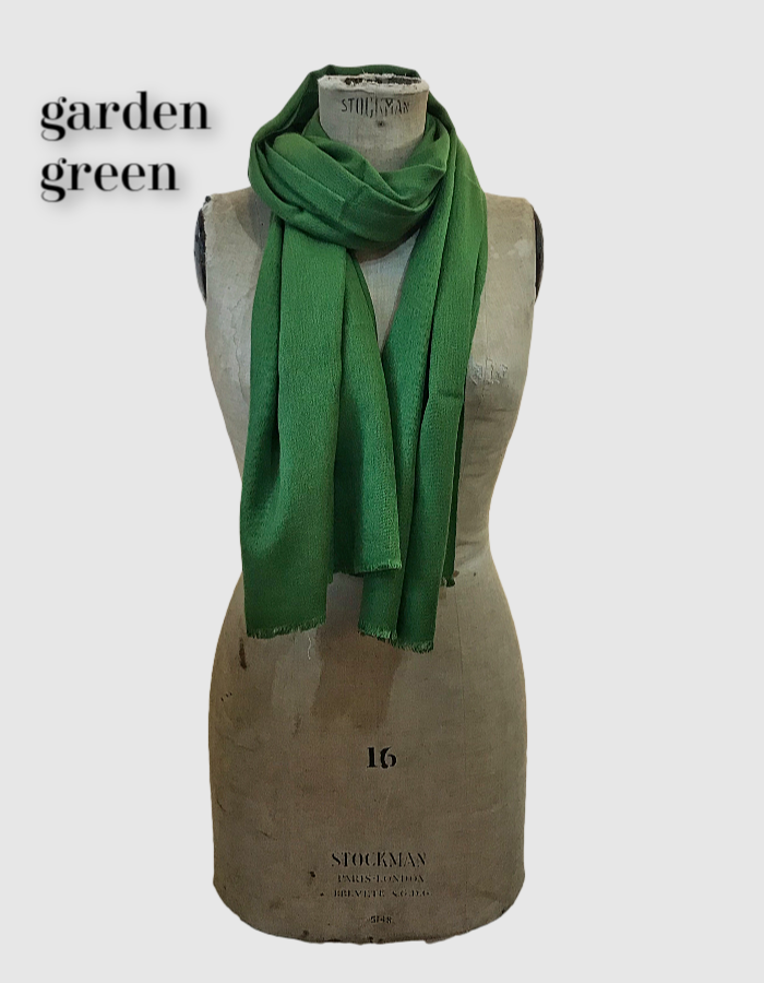 Cocowai silk cashmere pashminas made in nepal olive green