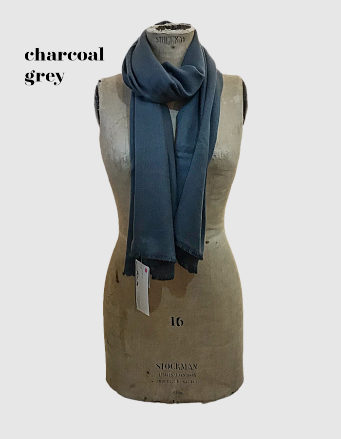 Cocowai silk cashmere pashminas made in nepal grey