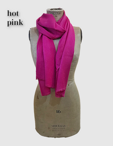 Cocowai silk cashmere pashminas made in nepal hot pink