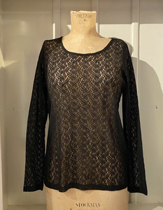 black lace stretchy top to wear as an undershirt