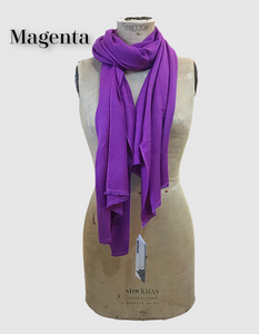 Cocowai silk cashmere pashminas made in nepal magenta purple
