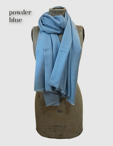 Cocowai silk cashmere pashminas made in nepal powder blue