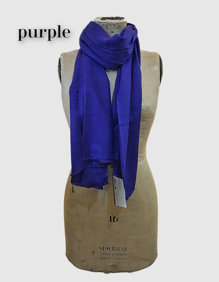 Cocowai silk cashmere pashminas made in nepal purple