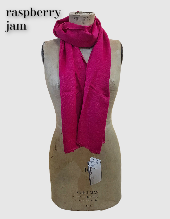 Cocowai silk cashmere pashminas made in nepal raspberry pink