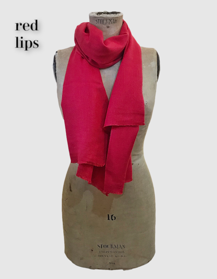 Cocowai silk cashmere pashminas made in nepal red