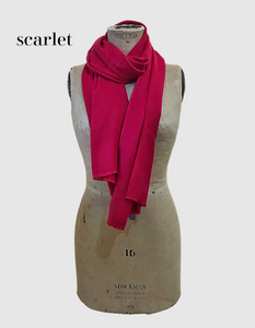 Cocowai silk cashmere pashminas made in nepal scarlet