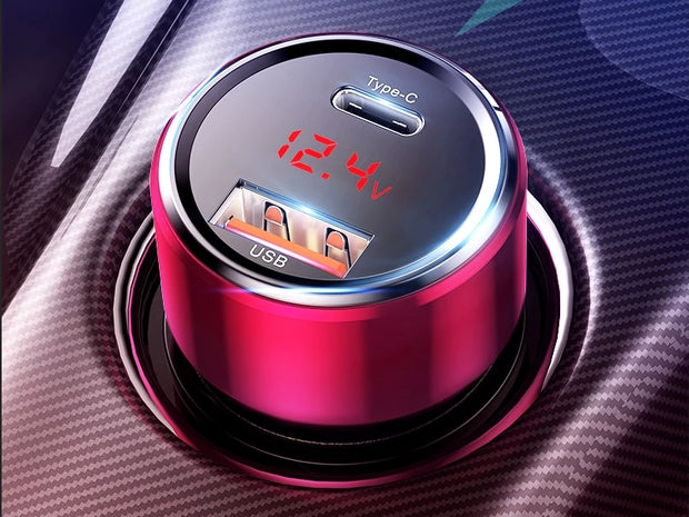 45W Quick Charge Dual USB Car Charger