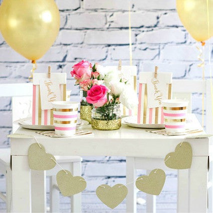 pink & gold sparkle party
