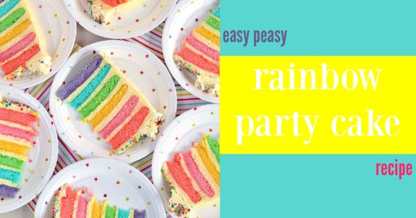 easy rainbow cake recipe