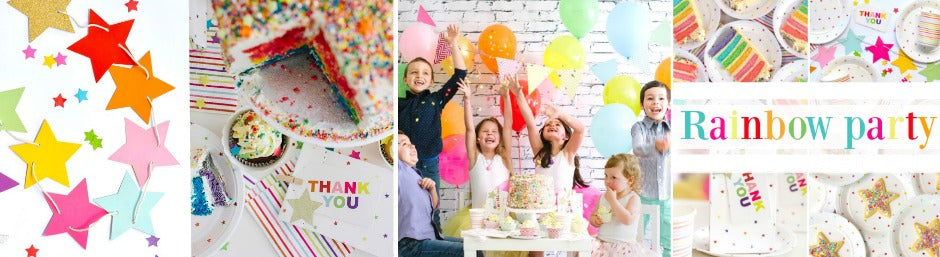 rainbow party theme by julie rose party co