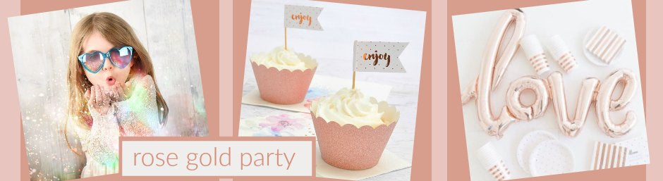 rose gold party supplies uk