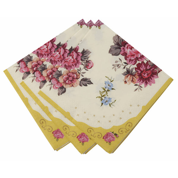 vintage tea party cocktail napkin