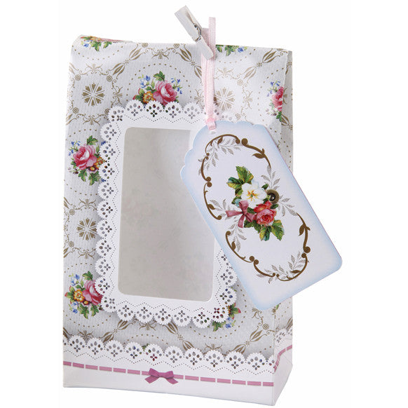 Floral treat bags, tags & pegs