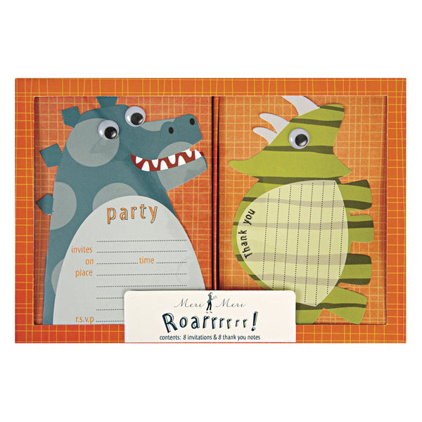 dinosaur party invites and thank yous