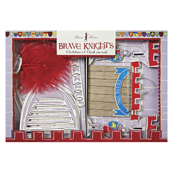 brave knights party invitations