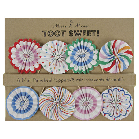 Toot Sweet Mini Pinwheel Toppers