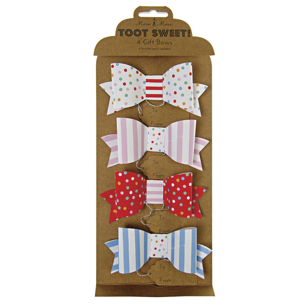 Toot Sweet bow gift tags - small