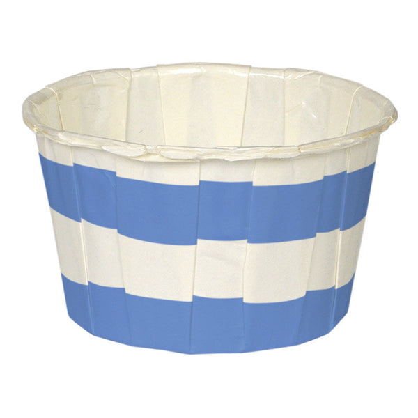 Toot Sweet blue stripe candy cups
