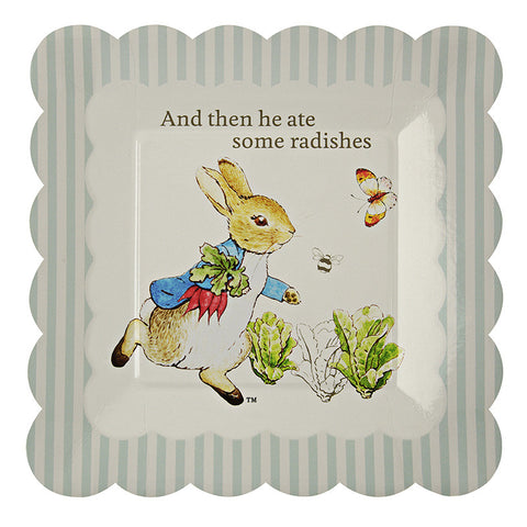 Peter Rabbit small scallop edged party plates