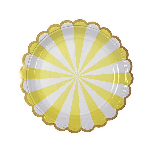 Toot Sweet yellow plates - small