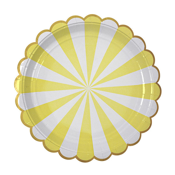 Toot Sweet yellow plate - large