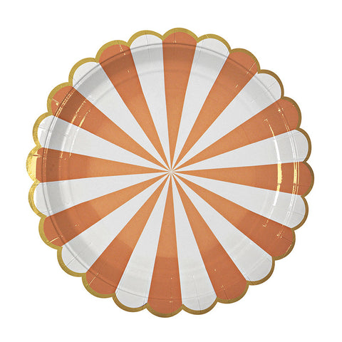 large Toot Sweet orange plates