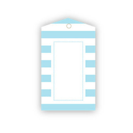 light blue stripe gift tags