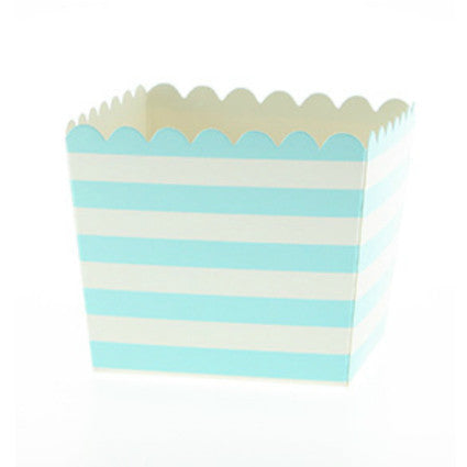 light blue candy stripe treat boxes
