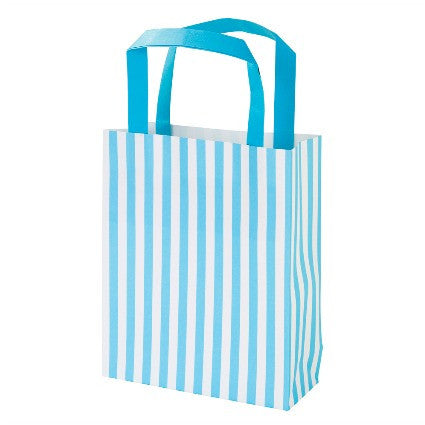 Handle party bags with blue stripes