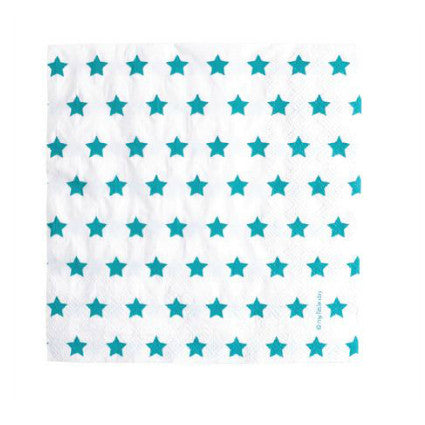 Party Stars! Blue party napkins
