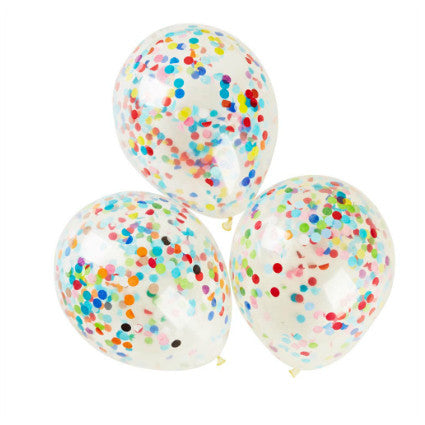 colourful confetti balloons
