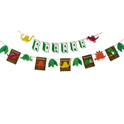 roarrrr! dinosaur party garland